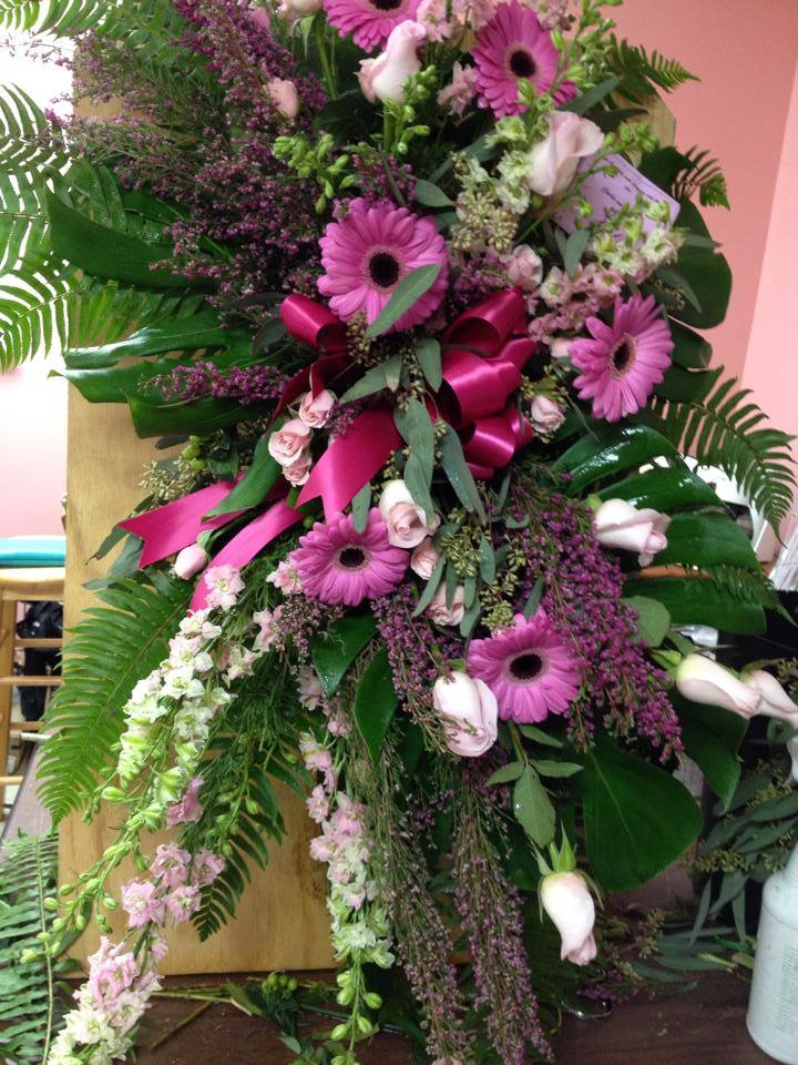 Amazing standing spray from Fantasy Floral Designs in Schenectady, NY