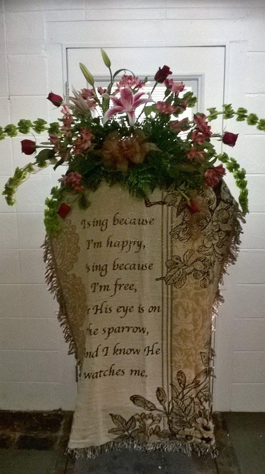 Copy of Gorgeous sympathy arrangement from Wilma's Flowers in Jasper, AL