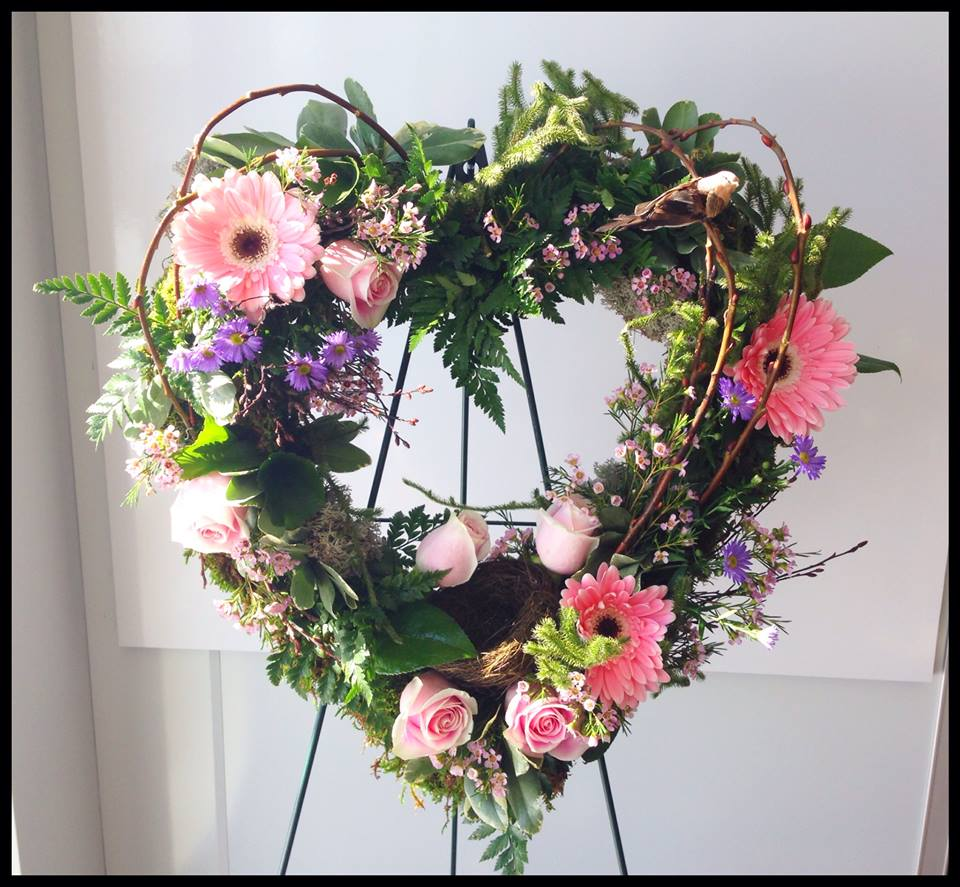 Beach themed funeral flower arrangements flowers healthy finished piece with flowers added by petals in thyme of wasaga beach on izmirmasajfo