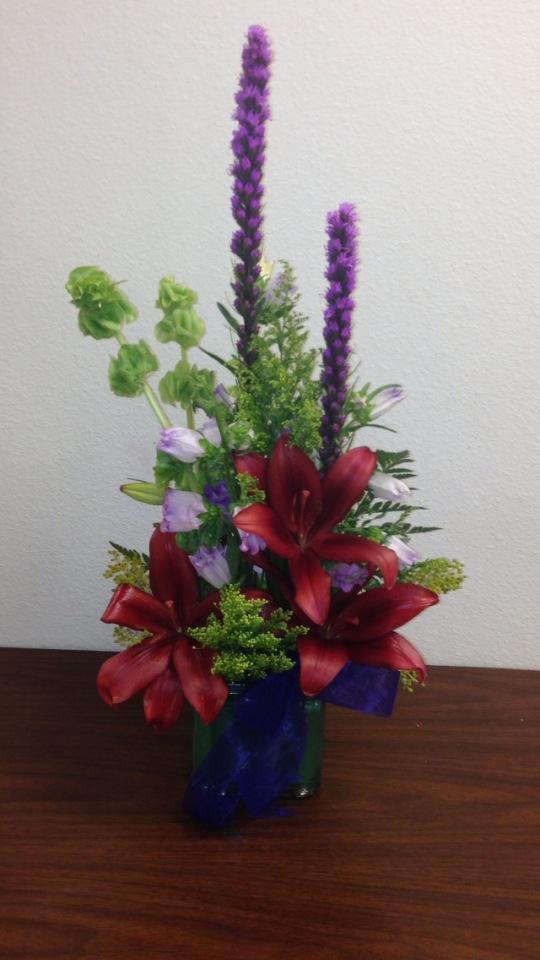 Lovely arrangement from Blooms & Grooms Wedding Chapel Florist in Elko, NV