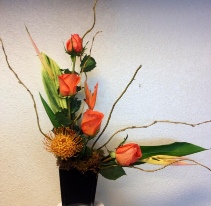 Rose and tropical mix by A New Beginning Florist in Moore, OK