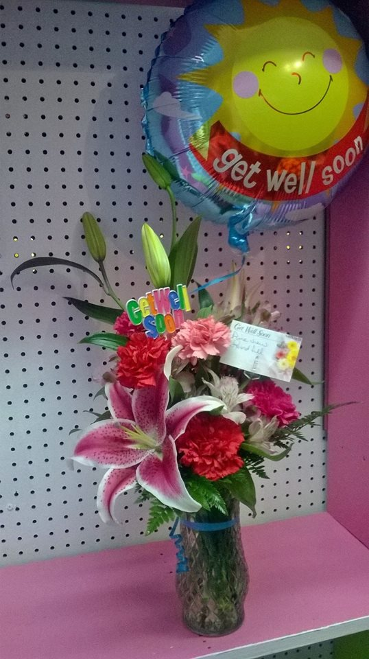 Some get well flowers from Wilma's Flowers in Jasper, AL
