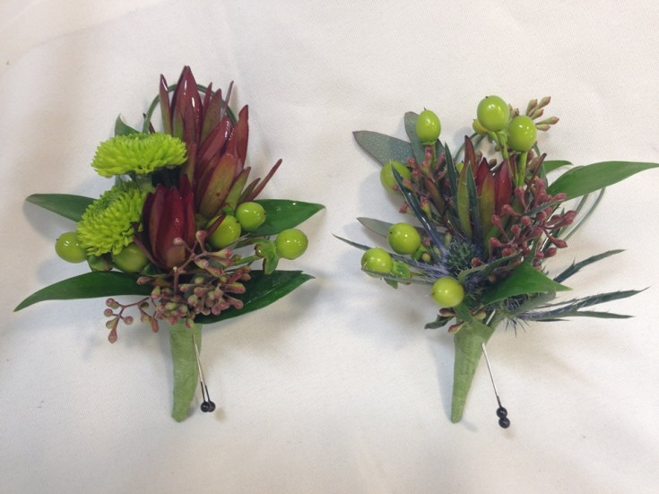 Southwestern style boutonnieres from The Enchanted Florist in Taos, NM