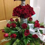 75th anniversary tree of roses from Mabel Flowers in Mabel, MN