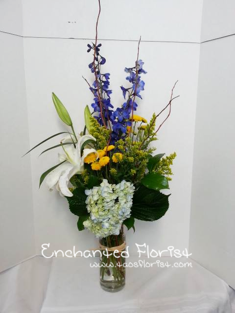 A brilliant piece from Enchanted Florist in Taos, NM