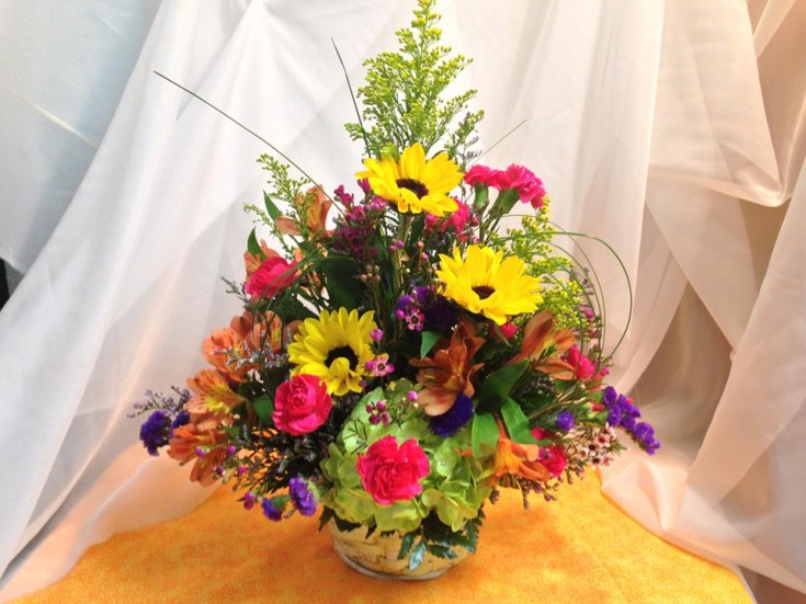 A collection of spring's best in one arrangement with Michele's Floral and Gifts in Copperas Cove, TX