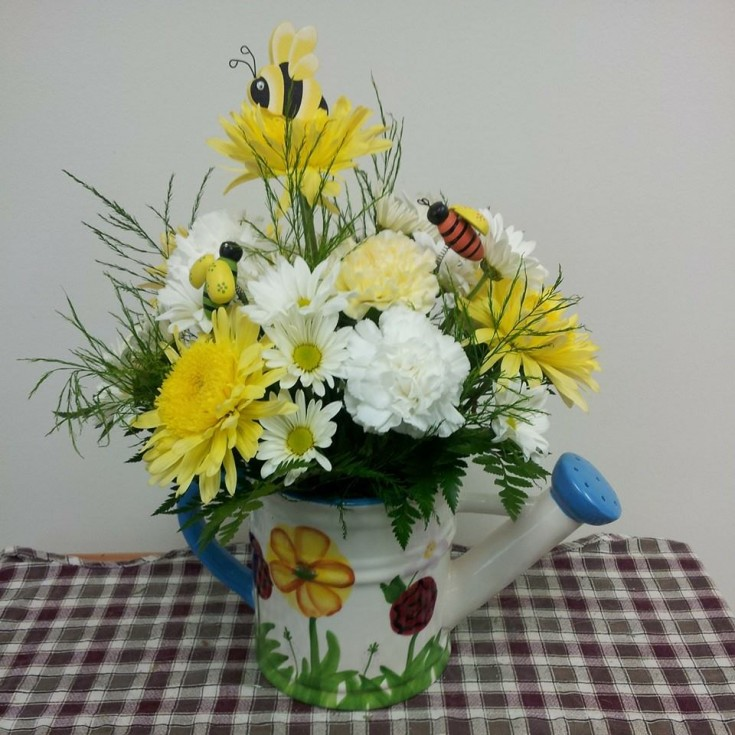 A colorful arrangement from Backwoods Flowers 'N More in Fairmont, WV