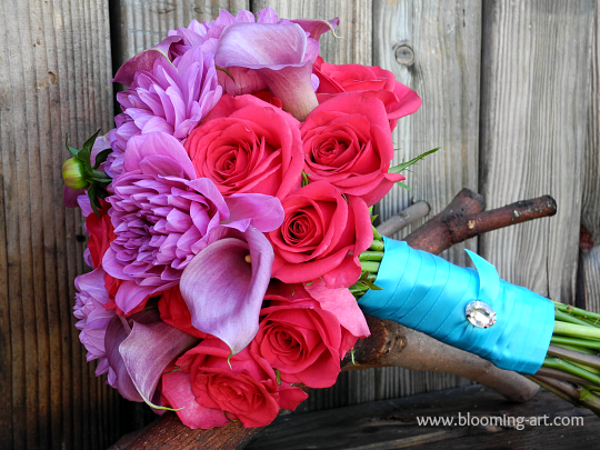 A gorgeous bouquet from Blooming Art Floral Design in San Diego, CA