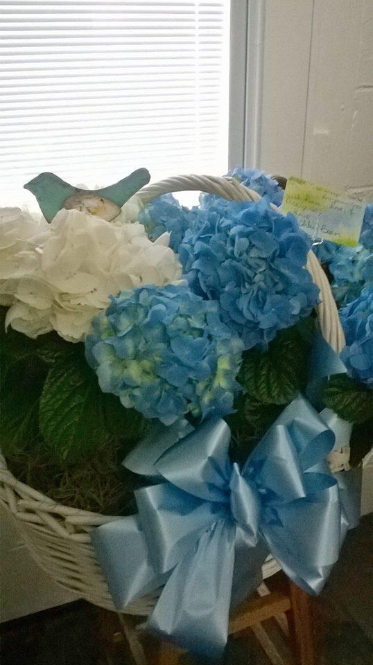 A lovely basket from Wilma's Flowers in Jasper, AL
