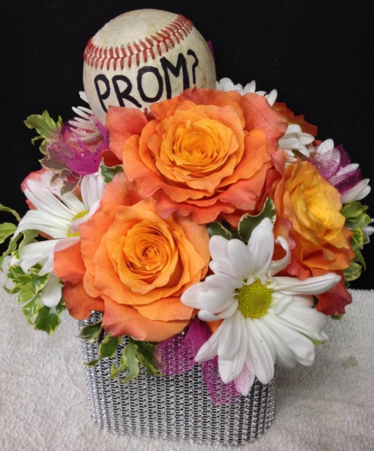 A prom invitation from Helen's Flowers in Greenville, OH