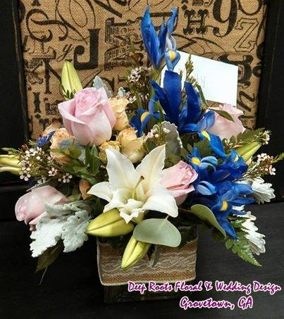 A splash of color from Deep Roots Floral & Wedding Design in Grovetown, GA