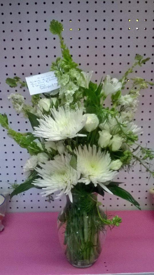 A wonderful arrangement from Wilma's Flowers in Jasper, AL