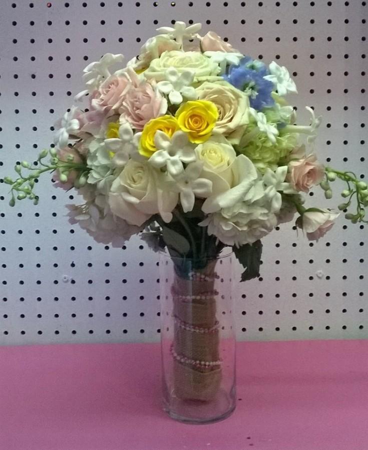 Beautiful wedding bouquet from Wilma's Flowers in Jasper, AL