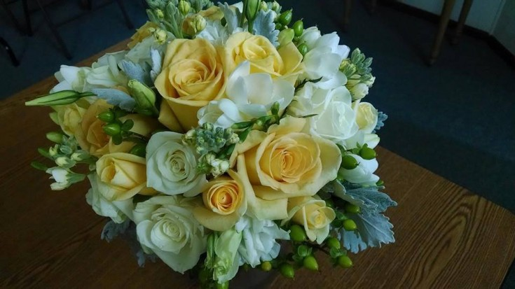 Breathtaking bridal bouquet from Mabel Flowers in Mabel, MN