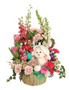Bunny Bloom Basket