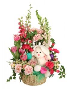 Bunny Bloom Basket