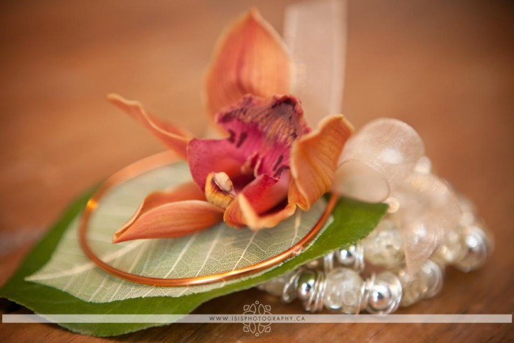 Doing corsage work with Petals in Thyme in Wasaga Beach, ON