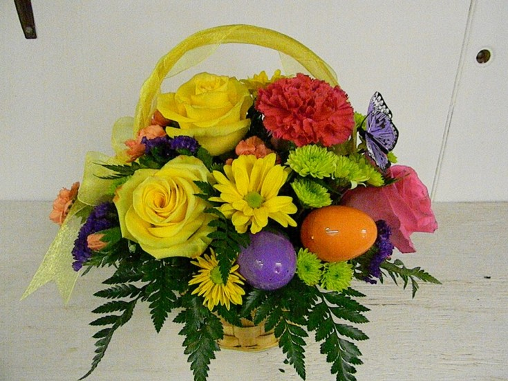 Easter flowers from Cole's Flowers in Middlebury, VT