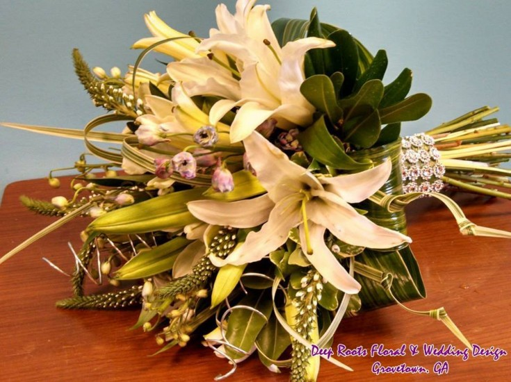 Gorgeous wedding bouquet from Deep Roots Floral & Wedding Design in Grovetown, PA