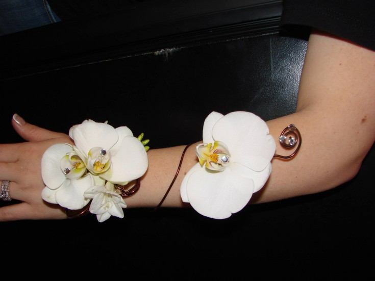 Orchid arm wrap for prom from A New Beginning Florist in Moore, OK