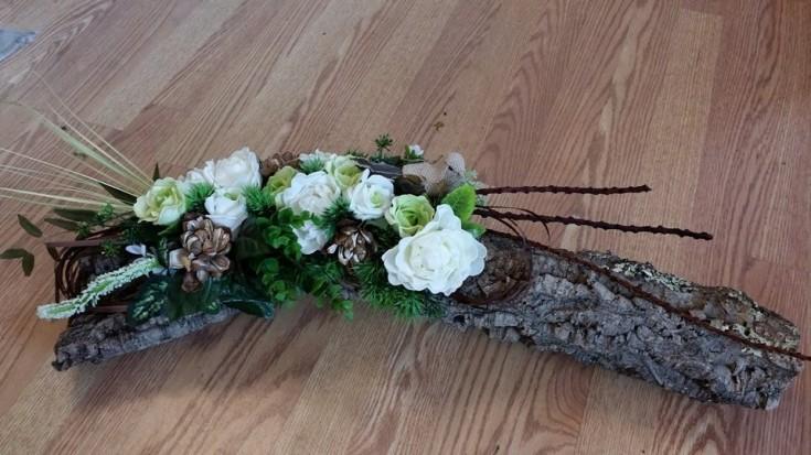 Silk arrangement using cork from BlueShores Flowers & Gifts in Wasaga Beach, ON