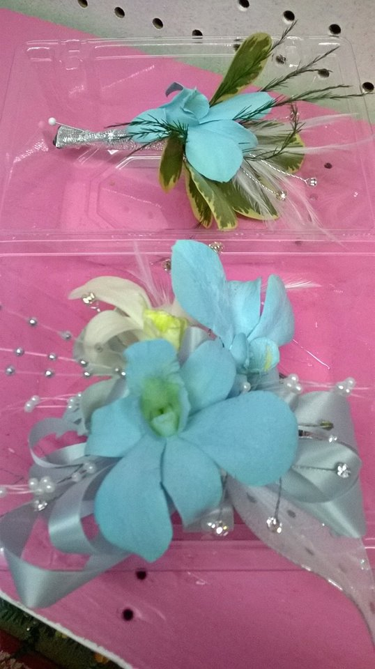 Some prom accessories from Wilma's Flowers in Jasper, AL