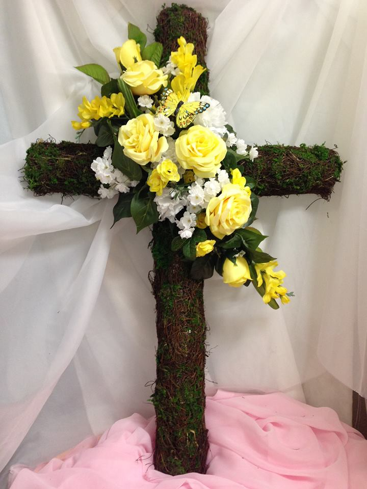 Taking pride in helping their client honor a loved one at Michele's Floral and Gifts in Copperas Cove, TX