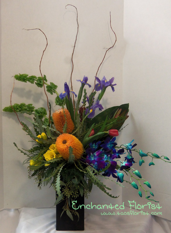 Tropical spring from Enchanted Florist in Taos, NM