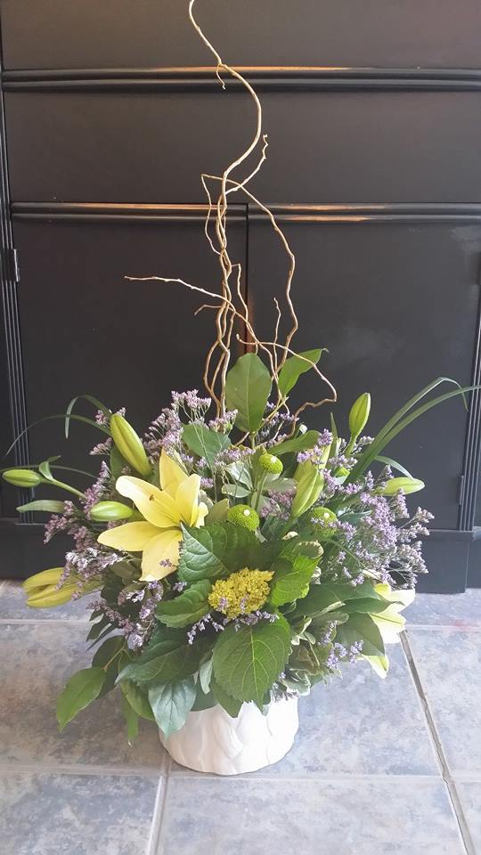 Using greenery at BlueShores Flowers & Gifts in Wasaga Beach, ON