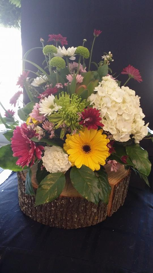 Working with what mother nature gave her at BlueShores Flowers & Gifts in Wasaga Beach, ON