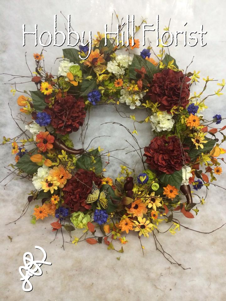 A beautiful wreath from Hobby Hill Florist in Sebring, FL