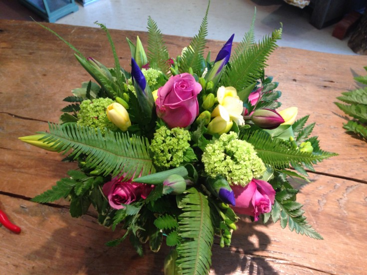 A gorgeous arrangement from Petals in Thyme in Wasaga Beach, ON