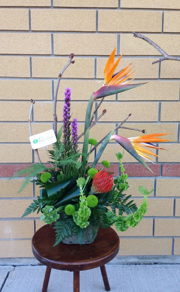 A gorgeous arrangement from Petals in Thyme of Wasaga Beach, ON