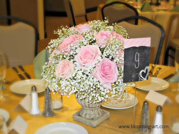 A gorgeous centerpiece from Blooming Art Floral Design in San Diego, CA