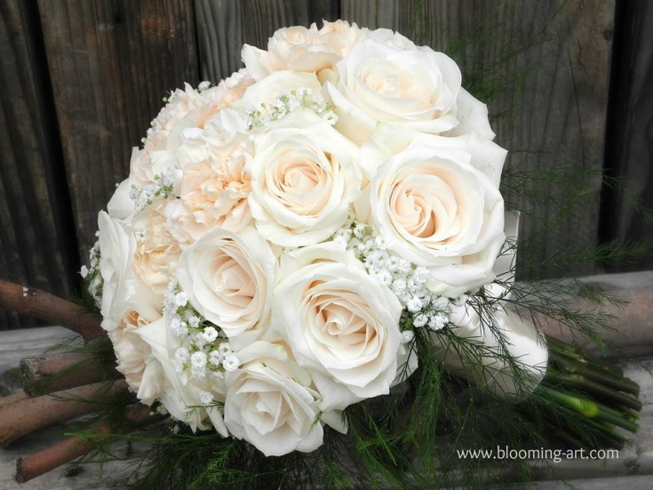A gorgeous wedding bouquet from Blooming Art Floral Design in San Diego, CA