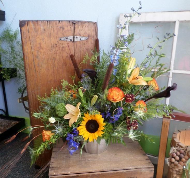 A masculine get well arrangement from Klamath Flowers in Klamath Falls, OR