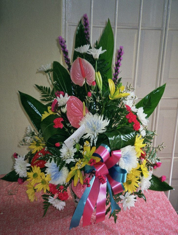 Beautiful Mother's Day arrangement from Seju Selektion Florist in Bridgetown, Barbados