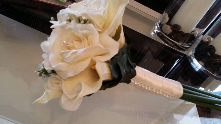 Elegant bridal bouquet from BlueShores Flowers & Gifts in Wasaga Beach, ON