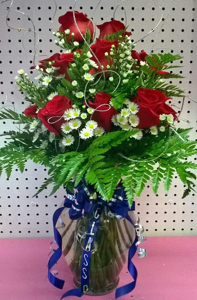 Gorgeous graduation flowers from Wilma's Flowers in Jasper, AL