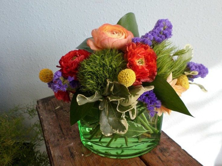 Ranunculus bouquet from Klamath Flowers in Klamath Falls, OR