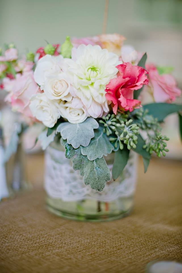 Romantic wedding flowers from Vintage Garden in Fairfield, CT