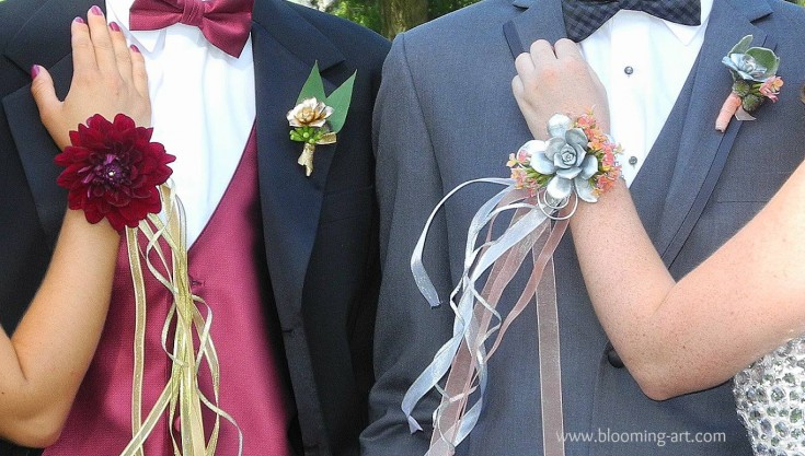 Some prom flowers from Blooming Art Floral Design in San Diego, CA