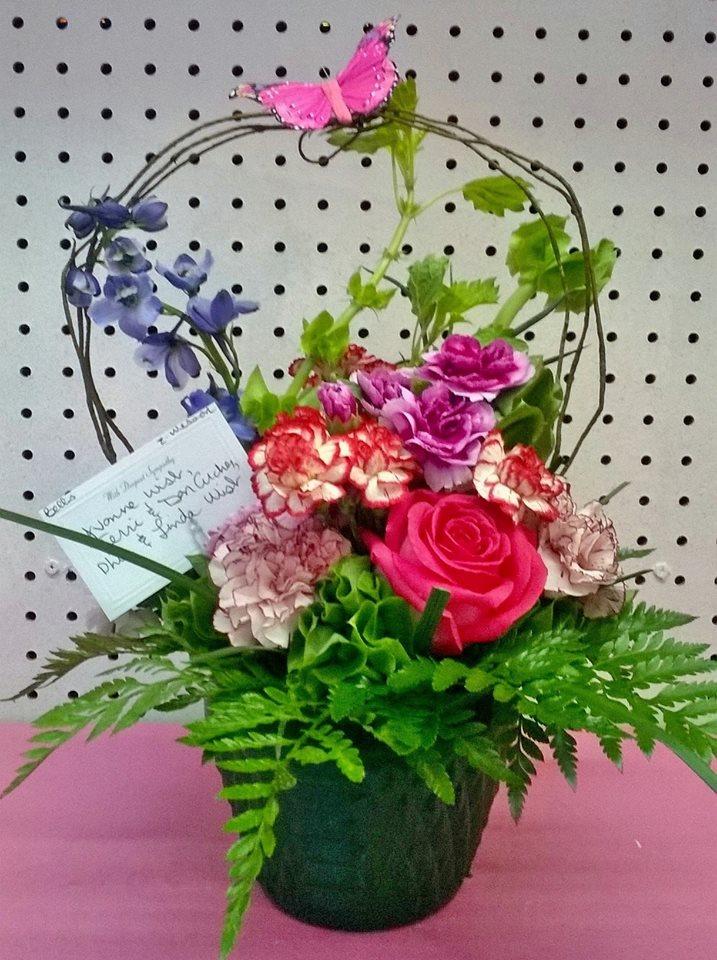 Whimsical arrangement from Wilma's Flowers in Jasper, AL