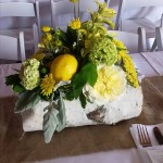 Wedding centerpiece from Hopper Hills Floral and Gifts in Victor, NY