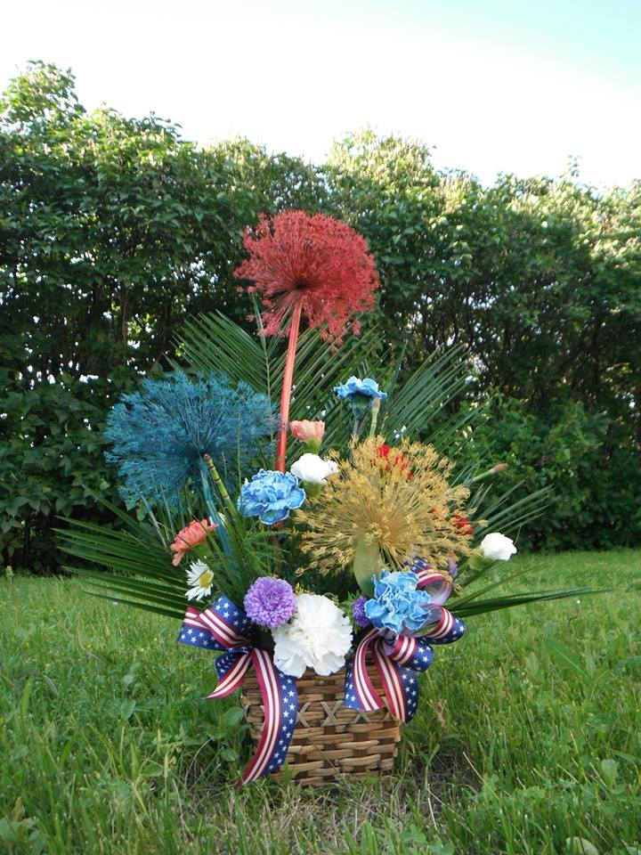 4th of July display 'Picnics and Fireworks' from Crow River Floral and Gifts in Hutchinson, MN