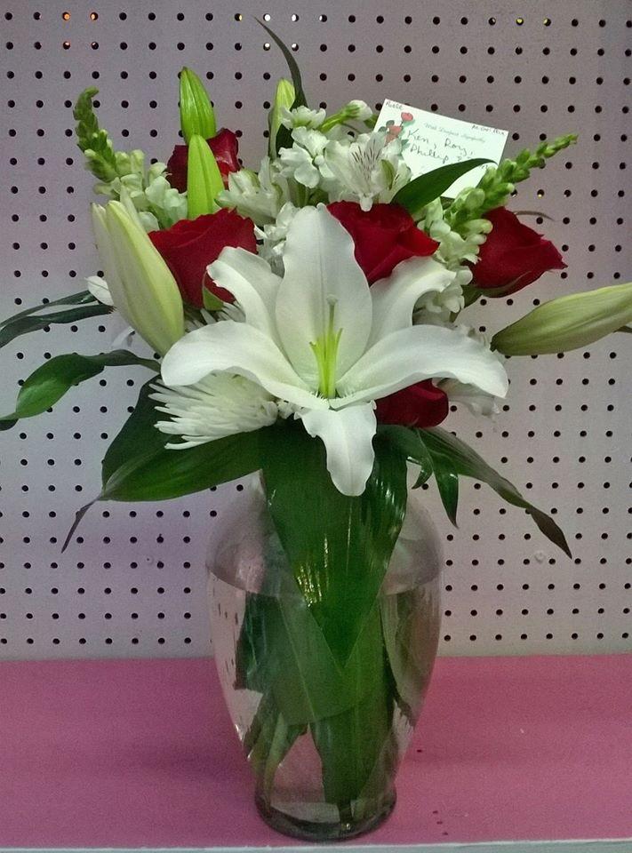 A lovely arrangement from Wilma's Flowers in Jasper, AL