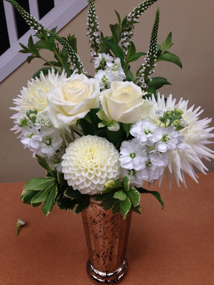 All white elegance from Oak Bay Flower Shop Ltd. in Victoria, BC