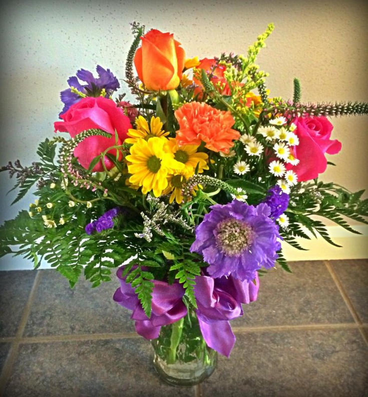 An explosion of color from The Window Box Flower Shop in Wahoo, NE
