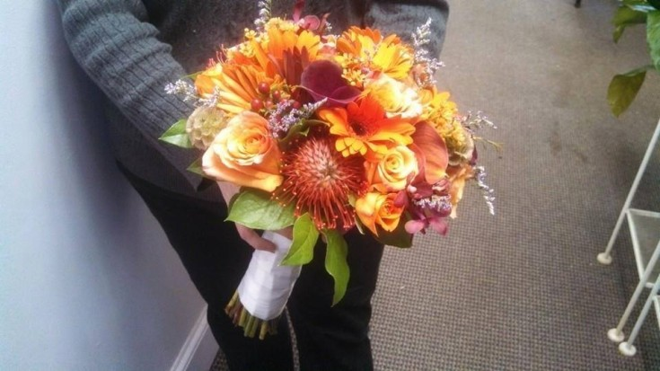 Beautiful bridal bouquet from Falmouth House of Flowers in Falmouth, MA