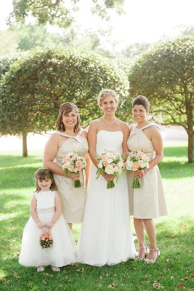 Bride, maids and flower girl bouquets from The Petal Patch, Ltd. in McFarland, WI